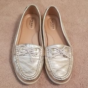 Sale!! Gold Sperry Boat Shoes